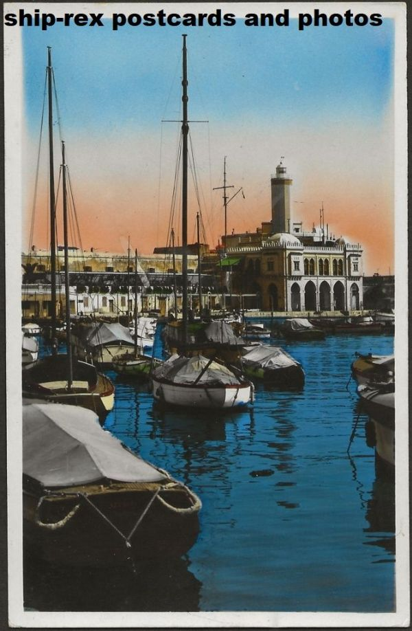 Algiers (Algeria), The Admiralty, postcard
